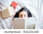 behind the book | Shutterstock . vector #431231230