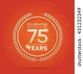 75 years anniversary badge on... | Shutterstock .eps vector #431232349