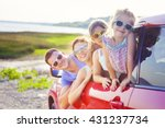 portrait of a smiling family... | Shutterstock . vector #431237734
