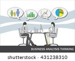 business analysis thinking  ... | Shutterstock .eps vector #431238310