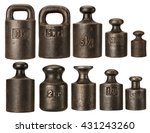 old rusty iron scale weights... | Shutterstock . vector #431243260