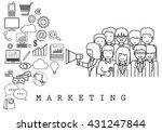 marketing team on white... | Shutterstock .eps vector #431247844