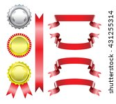 ribbons medal award  set... | Shutterstock .eps vector #431255314