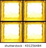 Square Shaped Of Yellow Glass...