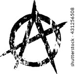 anarchy grungy sign. vector...   Shutterstock .eps vector #431256508