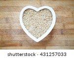 rice in heart shape bowl | Shutterstock . vector #431257033