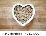 green lentils in heart shape... | Shutterstock . vector #431257039