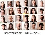 Stock photo passport photos of different people 431262283