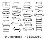 freehand pencil ribbons | Shutterstock .eps vector #431263060