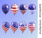 realistic set balloons with... | Shutterstock .eps vector #431266450