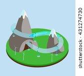 hyperloop  futuristic... | Shutterstock .eps vector #431274730