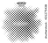 ink splats with halftone dots | Shutterstock .eps vector #431275438
