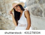beautiful woman posing in... | Shutterstock . vector #431278534