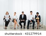 group of businesspeople doing... | Shutterstock . vector #431279914