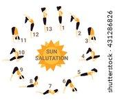 sun salutation  yoga   Shutterstock .eps vector #431286826