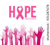 breast cancer awareness with... | Shutterstock .eps vector #431287678