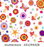 childish wallpaper with... | Shutterstock .eps vector #431294428