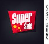 sale banner. summer sale. flyer ... | Shutterstock .eps vector #431294698