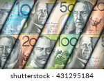 australian dollar bills... | Shutterstock . vector #431295184