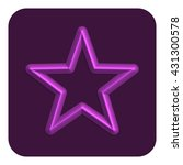 3d line neon star web icon ...
