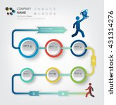 milestone and timeline for...   Shutterstock .eps vector #431314276