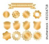 set of vector labels  cutout... | Shutterstock .eps vector #431316718