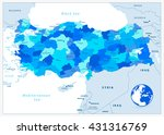 turkey administrative map in... | Shutterstock .eps vector #431316769