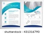 vector brochure flyer design... | Shutterstock .eps vector #431316790