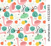 cute pastel pattern with... | Shutterstock .eps vector #431322853