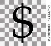 black dollar icon on transparent