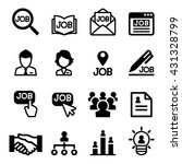 job icons set | Shutterstock .eps vector #431328799