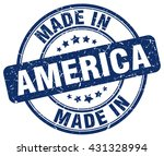 Постер, плакат: made in America blue