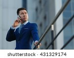 korean businessman talking on... | Shutterstock . vector #431329174