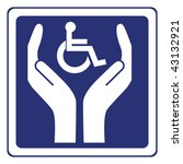 disabled care sign vector | Shutterstock .eps vector #43132921