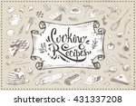 cooking recipes   calligraphic...   Shutterstock .eps vector #431337208