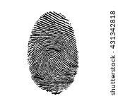fingerprint icon silhouette on... | Shutterstock .eps vector #431342818