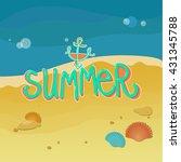 summer coast | Shutterstock .eps vector #431345788