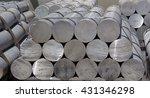 heap of aluminium bar  aluminum ... | Shutterstock . vector #431346298