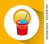 beach vacation icon design  | Shutterstock .eps vector #431348764