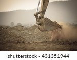 Excavator Working With Red Soi...