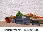 Small photo of traditional grocery shop with fruits at Aegean island Greece
