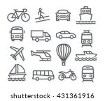 transport line icons | Shutterstock .eps vector #431361916