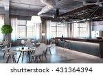elegant office interior | Shutterstock . vector #431364394