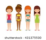 young people on summer vacation ... | Shutterstock .eps vector #431375530