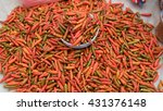 red  hot  spicy  fresh chilies | Shutterstock . vector #431376148