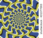 optical illusion background.... | Shutterstock .eps vector #431377003