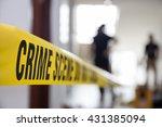 crime scene tape in building...   Shutterstock . vector #431385094