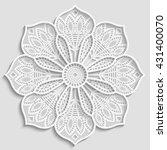 mandala  lacy paper doily ... | Shutterstock .eps vector #431400070