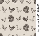vector seamless pattern with... | Shutterstock .eps vector #431404480