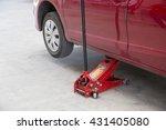 hydraulic floor jack.   Shutterstock . vector #431405080